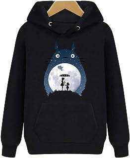 CTOOO Jungen Mädchen Totoro Hoodie Pullover Damen Herren Ka