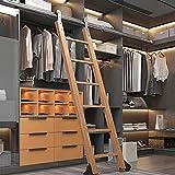 Herraje para Puerta Corredera Kit 3.3FT-20FT Biblioteca de escalera corrediza Juego completo de riel rodante de hardware (sin escalera), riel de escalera móvil de tubo redondo para interiores / loft,