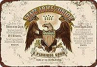 レトロなメタルサイン/プラークノベルティギフト1876アメリカ合衆国の紋章、壁サインメタルプラークポスター鉄絵警告サインアート装飾バーホテルオフィスカフェテリア