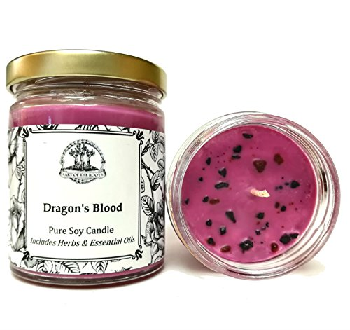 Art of the Root Dragons Blood 8 oz Soy Spell Candle for Love, Power, Protection & Purification (Hoodoo, Wiccan, Pagan, Magick)