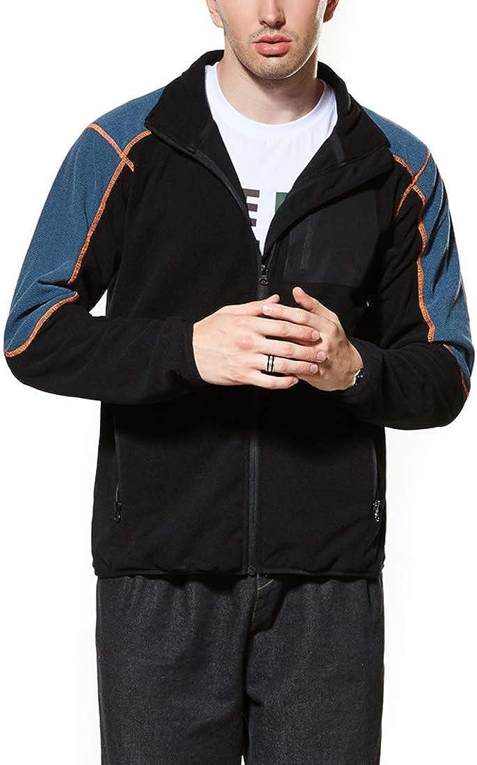 LuckyBov Men Classic Polar Fleece Jacket Zipper Spring Fall Soft Shell Windproof