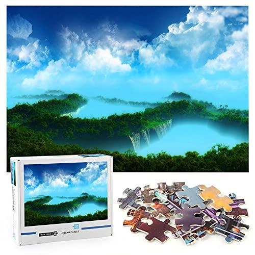 Paisaje Puzzle adulto 1000 piezas Naturaleza del paisaje Rompecabezas de juguete Juego mental Entretenimiento familiar-70x50cm