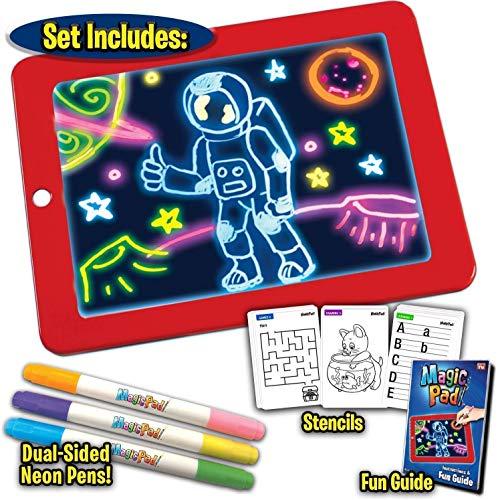 DIP Magic Pad Freezing Light Painting Board Drawing Tablet Pad 3D LED Luminous Doodle Graffiti Sketchpad Toy Highlighter