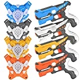 Ainek Laser Tag Sets with Gun and Vest - Adults & Kids Laser Tag Guns Set of 4 - Multi Player Lazer Tag Battle Game for Indoor and Outdoor - Infrared 0.9mW