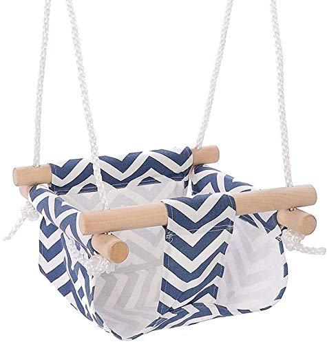 WLYX Madera del bebé Asiento de Columpio de Madera Que cuelga Conjunto niños de Preescolar Juguete Exterior Cubierta oscilación del Asiento de Seguridad al Aire Libre Hamaca Juguete