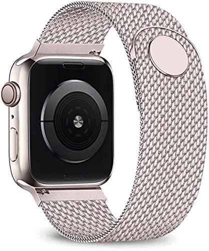 Ternzun Correa para Apple Watch Band 44mm 40mm iwatch Band 38/42mm Correa magnética Milanese Loop pulsera para Apple Watch Series 6 5 4 3 SE (38 o 40 mm, oro vintage)