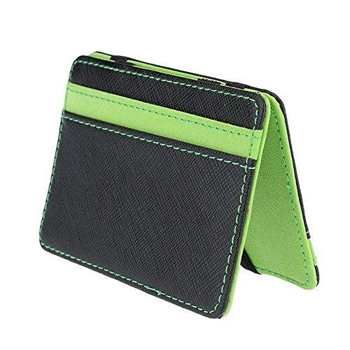 Slim Billetera Mágica - Titular Caja de La Tarjeta de Crédito/ID – Dinero Super Slim Clip de los Hombres para Lechero/Taxi Driver