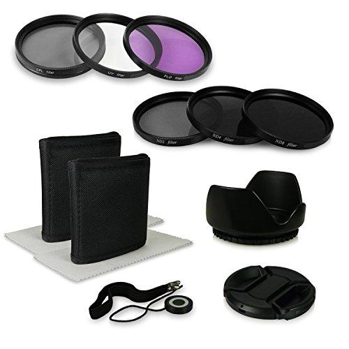 55mm 8in1 Pack de Accesorios Compatible con Canon EOS 1100D, 550D, Sony...