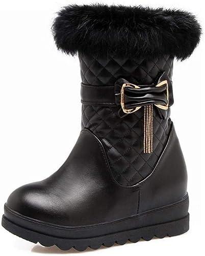 ZHRUI Stiefel para damen - Invierno Antideslizante cálido, Grueso Inferior más Terciopelo Stiefel para damen Stiefel para la Nieve Stiefel de Refuerzo Interior 34-43 (Farbe   schwarz, tamaño   39)