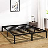 Full Bed Frame, 14 Inch Platform Bed Frame No Box Spring Needed, Metal Full Size Bed Frame with Storage , Heavy Duty Steel Slat and Anti-Slip Support, Easy Quick Lock Assembly - Full