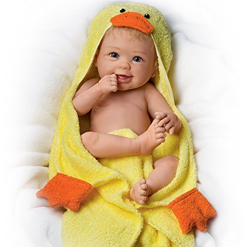 Rub-A-Dub-Dub Washable With Bath Accessories and Hand-rooted Hair So Truly Real Lifelike & Realistic Baby Doll...