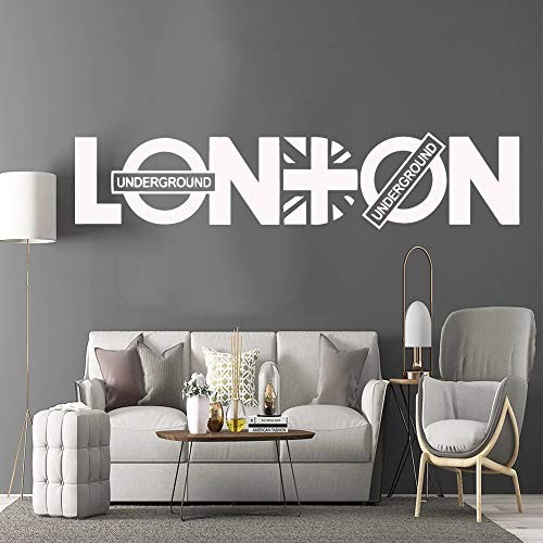 3D London pegatina logo vinilo pared calcomanía papel tapiz oficina habitación pared pegatina sala de estar vinilo decorativo mural A5 57x12cm