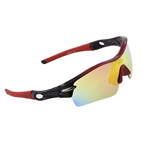 55cf8acc8a6 DUCO Polarized Sports Sunglasses with 5 Interchangeable Lenses UV400  Protection Sports Sunglasses for Cycling Running Glasses