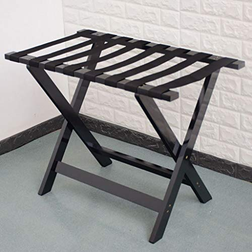 Save %56 Now! QTQZDD Hotel Luggage Rack Solid Wood Luggage Rack, Hotel Bedroom Foldable Luggage Ra...