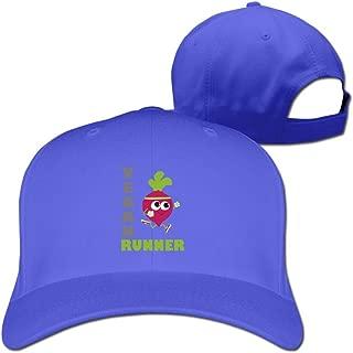Aiguan Vegan Runner, Running Beet Cap - Fashion 100% Cotton Hat Black