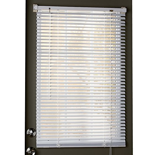 "Collections Etc Easy Install Magnetic Blinds, 1"" Mini Quick Snap on/Snap Off, for Steel Metal Door Windows, White, 25"" X 40"", White, 25"" X 40"""
