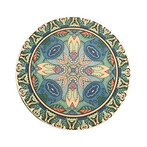MIAORUIQIN tapijten, etnische stijl woonkamer salontafel slaapkamer tapijt ronde gebied (grootte: diameter 75-150cm)