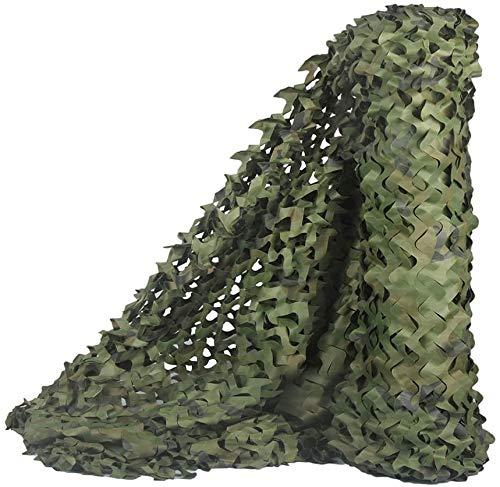 JAJ Malla de camuflaje, malla militar, ligera, duradera, ideal para parasol, camping, tiro, caza, etc. Camo, 1,5 x 10 m