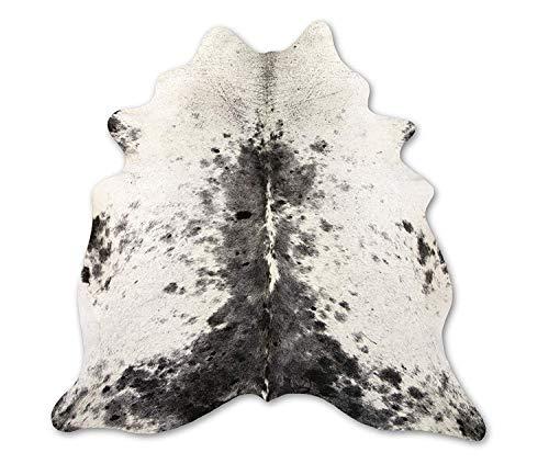Zerimar Natuurlijk Tapijt Koeienhuid Zout-Peper Zwart & Wit |MAATREGELEN: 200x160 cm 2,65 m² |Tapijt in de woonkamer |Tapijtdecoratie |Slaapkamer tapijt |Natuurlijk tapijt