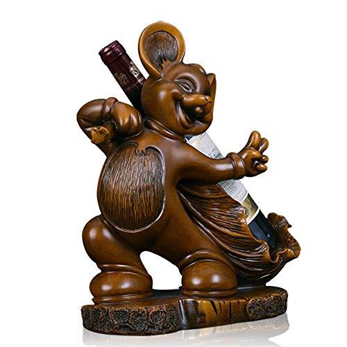 CESULIS Soporte de almacenamiento para ratón, para decoración de oficina, escritorio, para decoración del hogar, estatua de resina (color: marrón, tamaño: tamaño único)