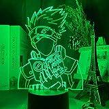 Lámpara De Ilusión 3D Luz De Noche Led Anime Japonés Naruto Kakashi Hatake Icha Icha P Daisu Figura Para Decoración De Habitación Infantil Lámpara De Mesa