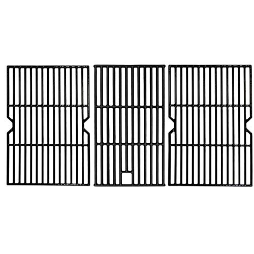 SafBbcue 19.3 in Cooking Grates for Traeger 34 Series Pellet and Pit Boss 1000 XL Series & 1100 Pro Series Pellet Smoker Grill, Austing XL1000, Matte Cast Iron Grill Cooking Grids, 3 Pack