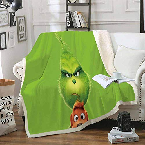 LIFUQING Grinch Quilt Home Office Büro Mode Quilt Adult-150X200Cm