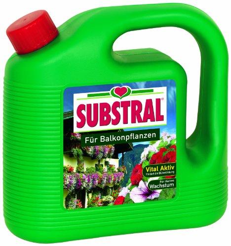 Substral Für Balkonpflanzen, Qualitäts-Blumendünger für alle Pflanzen auf Balkon,Terrasse und im Beet mit hochwertiger Düngerrezeptur und chelatisierten Spurenelementen, 2 Liter Kanister