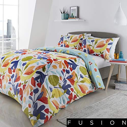 Fusion Fun Fruits Print Reversible Duvet Cover Set, Multi, Double