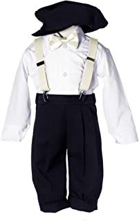 Toddlers and Boys Vintage Black Knickers Set with Suspenders and Bow Tie