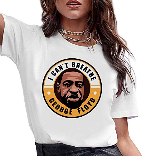 CREPUSCOLO I Cant Breathe O-Neck T-Shirt Police Protest Justice Short Sleeve Tee Men Women