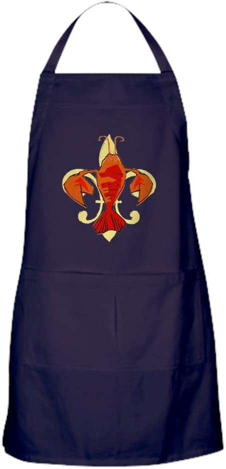 CafePress Fleur De Craw Apron New product type Dark Fort Worth Mall with Kitchen Pockets
