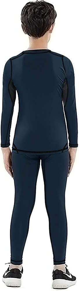 Aojo Kid/'s Thermal Underwear Set Boy/'s Base Layer Winter Warm Long Johns for Skiing Running Hiking