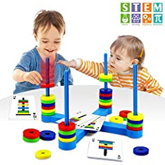 ✿[Learning by Playing] Magnetic Match Ring is a fun way for children to learn about how magnets work, and Focus, Memory, and Matching skills, Color and Shape Recognition,Problem-Solving skills,Social skills are developed while playing. ✿[Fun Matching...