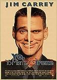 Leinwand kunst 60x80cm Ungerahmt Jim Carrey Film Retro