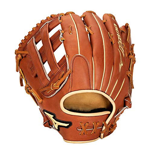 Mizuno GPS1-700DH Pro Select Outfield Baseball Glove, Size 12.75, Brown, Left Hand Throw