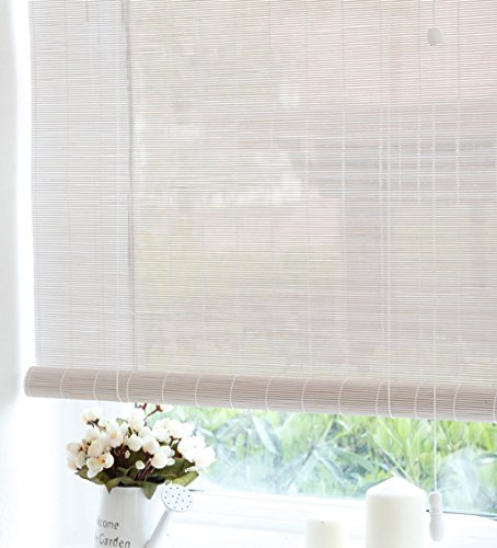 WUFENG Custom Made Bamboo Roll Up Window Blind Store Bateau En Bambou Store Anti-regard En Bambou Anti-insect Curtains Para Puertas Balcony Living Room Tea Room Sunshade Curtain store bateau en bambou ( Couleur : A , taille : 90*150cm )