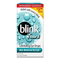 【並行輸入品】Blink Tears Lubricating Eye Drops Mild-Moderate Dry Eye 0.5 Fl Oz Sterile (3 Pack)