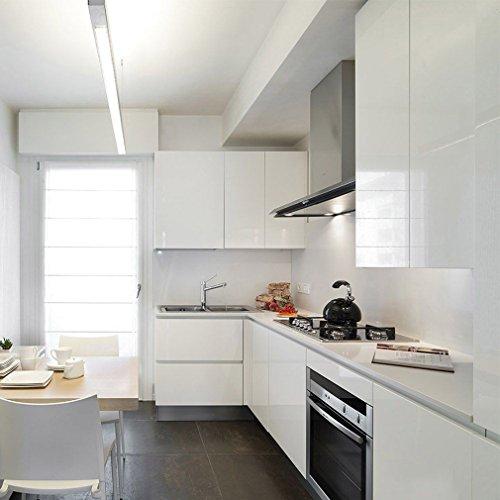 KINLO 5M Vinilo Pegatina de Mueble de cocina, La protección de armarios de Engomada del PVC Rollos de papel, Autoadhesivo Papel Pintado Mueble / Cocina, Antibacteriano Antifouling - Marrón