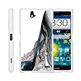 TurtleArmor | Compatible with ZTE Grand X Max Case | Grand X Max+ Plus Case [Slim Duo] Slim Fitted 2 Piece Cover Compact Hard Protector Snap On Case on White Music - Artistic Music Notes