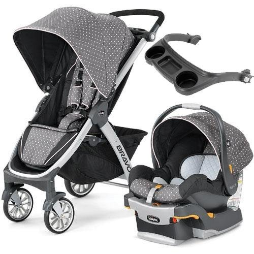 Chicco - Bravo Stroller Trio System - Lilla with Tray