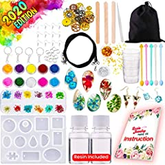 💕 【 RESIN STARTER KIT 】 With our user-friendly step by step instructions, you will surely have lots of fun crafting your epoxy resin jewelry 💕 【 ALL IN ONE COMBO 】 Tons of resin jewelry crafting supplies and material included. From silicone molds, dr...