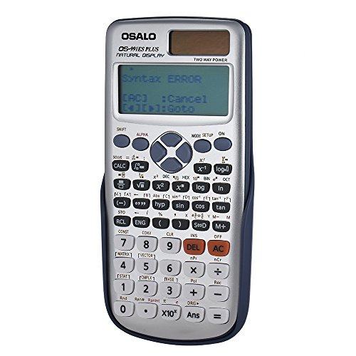 Aibecy【OSALO】OS-991ESPLUS関数電卓高精細417関数12桁二重電源ソーラー&電池