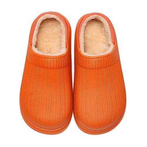 XJJZS Casa cómoda para Hombre Zapatillas de vellón Zapatos de Forro Suave Mujer casa cálida Peluche Corto (Size : 39/40)