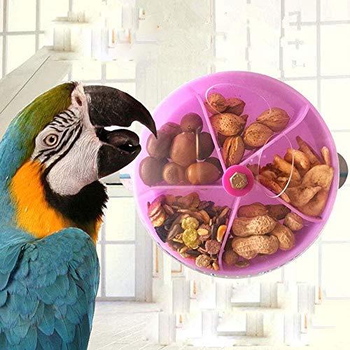 Uteruik Futterstation für Vögel, Vogelfutterball, rotierendes Rad, für Papageien, Wellensittiche, Nymphensittiche, Graupapageien, Kakadus, Aras, 1 Stück