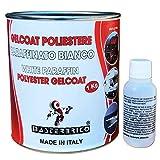 Gelcoat paraffinato bianco per vetroresina kg 1 con catalizzatore