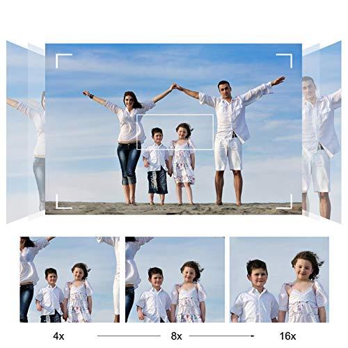 Cámara de Video HD, cámara de Video Digital Estable de Alta definición 16X, para Viajes de(Black, European regulations)