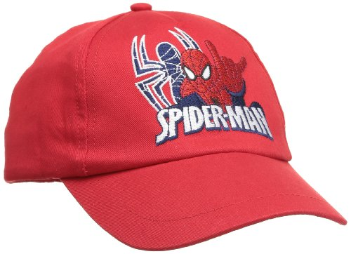 Disney Jungen SPIDERMAN Strickmütze, Rot-Rot, für 4-Jährige