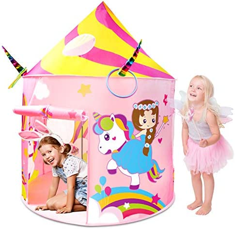 Kids Tent Aywewii Play Tent for Kids Unicorn Toys Princess Castle Play House Unicorn Girls Tent product image