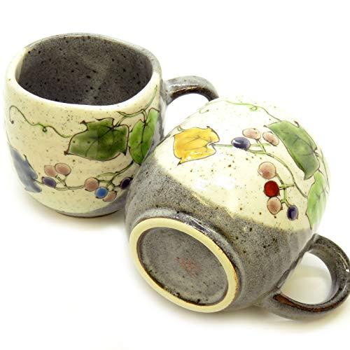 九谷焼 ペアマグカップ 野ぶどう 陶器 食器 日本製 ブランド